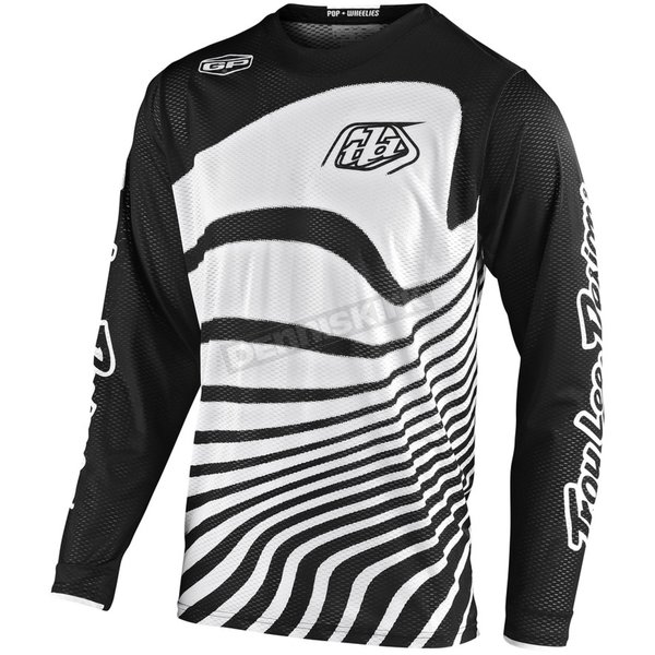 Youth Black/White Drift GP Air Jersey