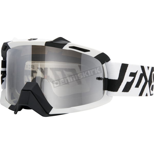 Fox Black/White/Chrome Spark Divizion Air Space Goggles - 15355-902-NS