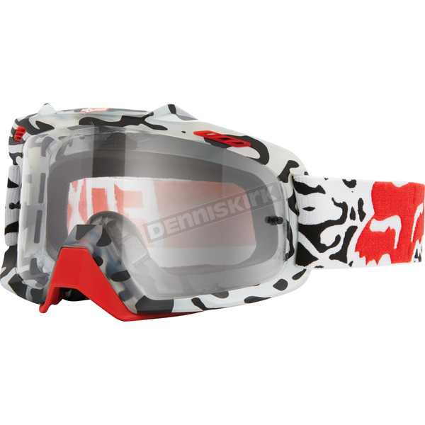 Fox White/Clear Air Space Goggles - 15356-901-NS