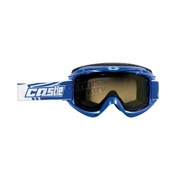 Castle X Dark Blue Launch Snow Goggles w/Yellow Lens - 64-1222