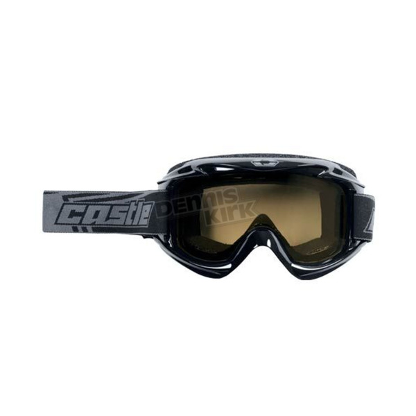 Castle X Black Launch Snow Goggles w/Yellow Lens - 64-1223