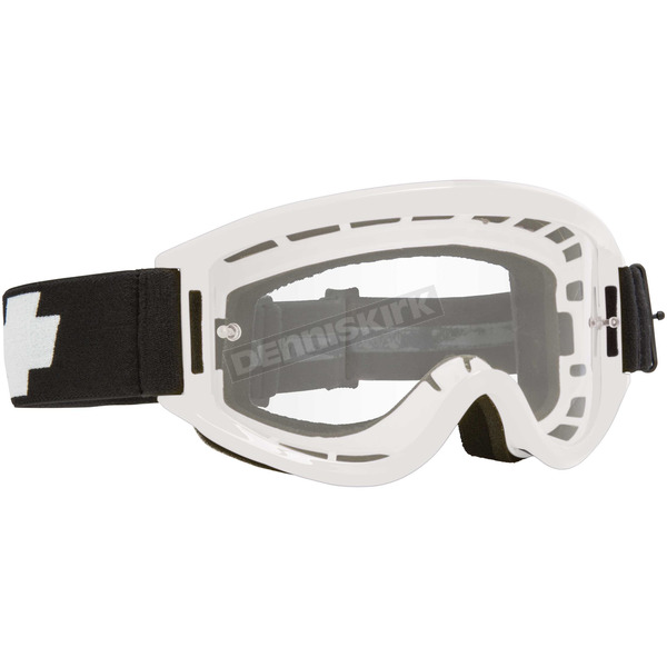 Spy Optic White Breakaway Goggle w/Clear Lens - 323291632100