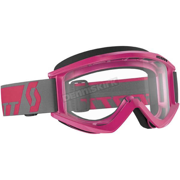 Scott Pink Recoil XI Goggle w/Clear Lens - 240591-0026043