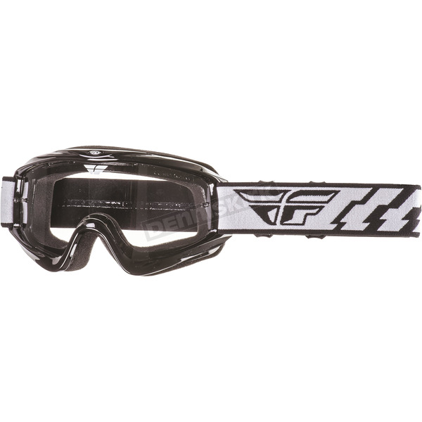Fly Racing Youth Black Focus Goggles - 37-3010