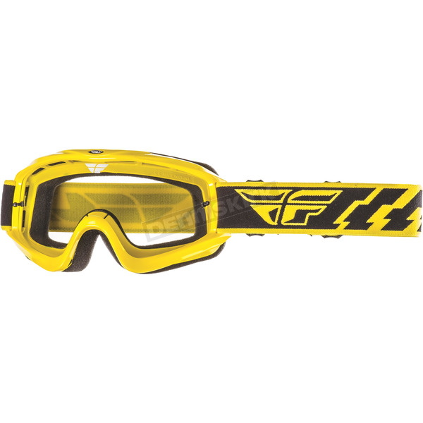 Fly Racing Yellow Focus Goggles - 37-3003
