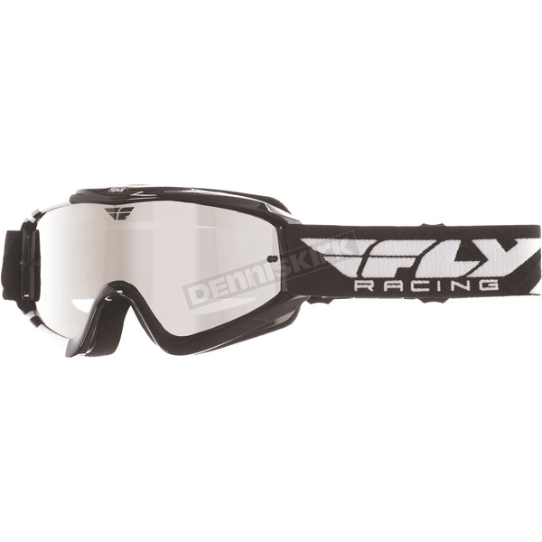 Fly Racing Black/White Zone Goggles - 37-3021