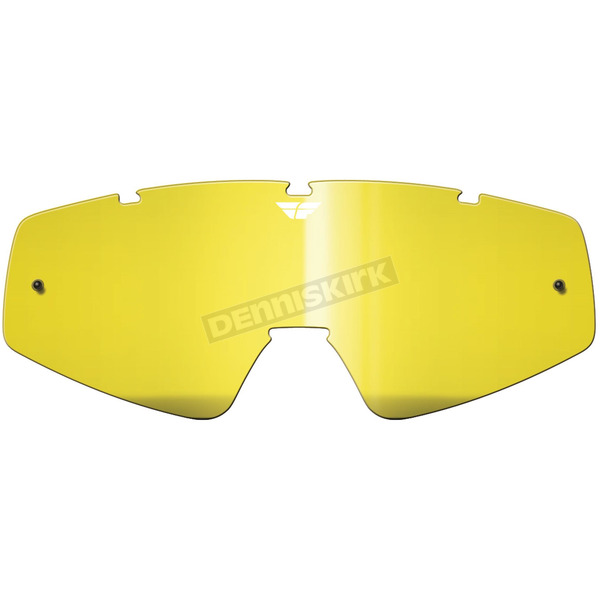 Fly Racing Yellow Replacement Lens for Youth Zone/Focus Goggles - 37-2451