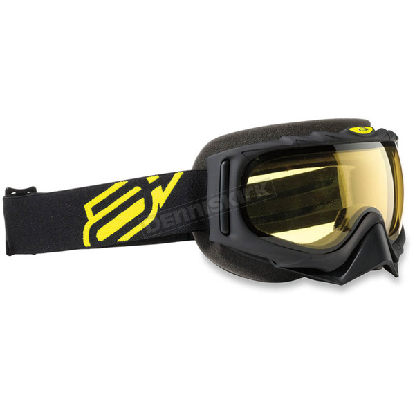 Arctiva Youth Black/Hi-Viz Yellow Comp 2 Goggles - 2601-2100