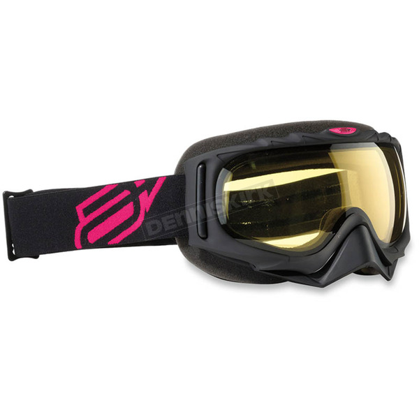 Arctiva Youth Black/Pink Comp 2 Goggles - 2601-2102