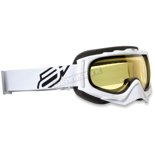 Arctiva Youth White/Black Comp 2 Goggles - 2601-2103