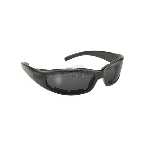 Black Rally Sunglasses w/Smoke Lens - 4302