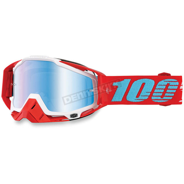 100% Racecraft Kepler Goggles w/Mirror Blue Lens - 50110-189-02
