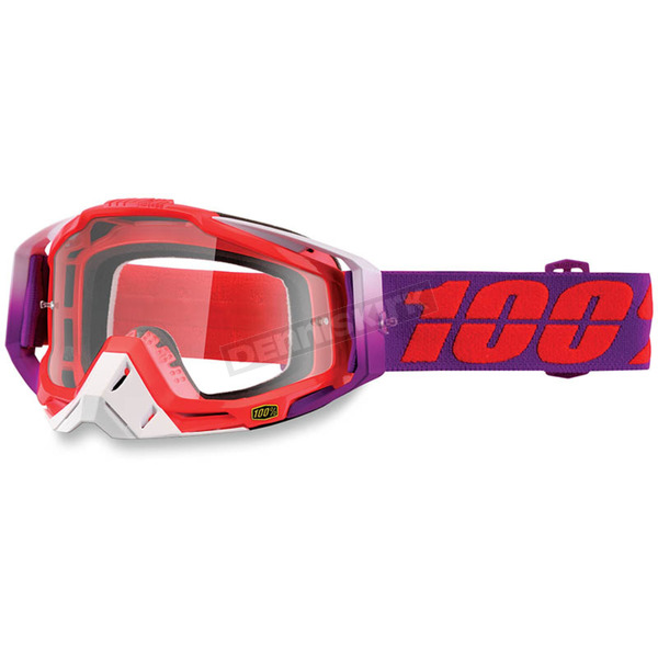 100% Racecraft Watermelon Goggles w/Clear Lens - 50100-195-02