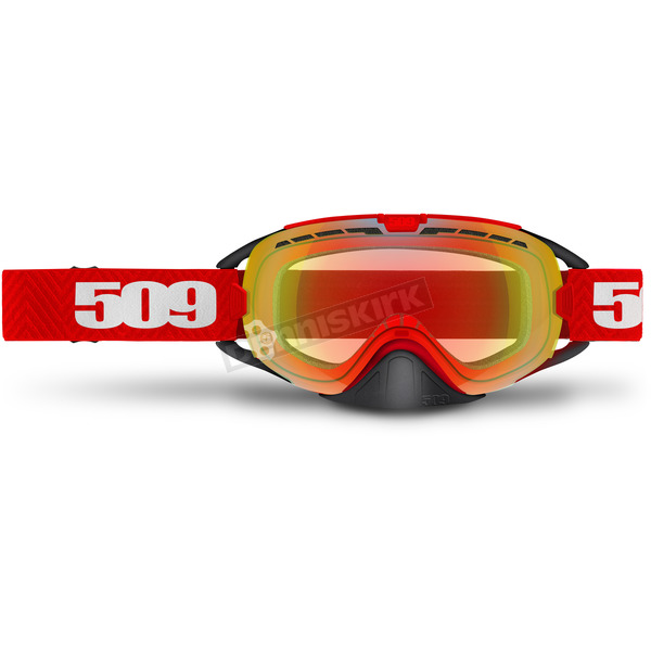 509 Red Revolver Goggles w/Fire Mirror/Clear Tint Lens - 509-REVGOG-17-RE