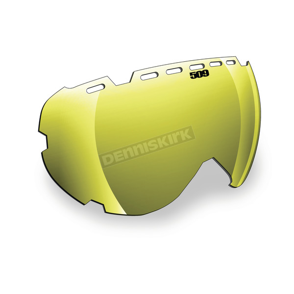 509 Gold Mirror/Yellow Tint Replacement Lens for Aviator Goggles - 509-AVILEN-13-GD