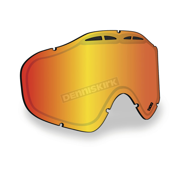 509 Fire Mirror/Rose Tint Replacement Lens for Sinister X5 Goggles - 509-X5LEN-13-FR