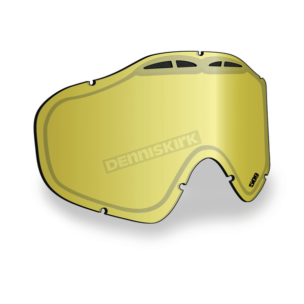 509 Gold Mirror/Yellow Tint Replacement Lens for Sinister X5 Goggles - 509-X5LEN-13-GD