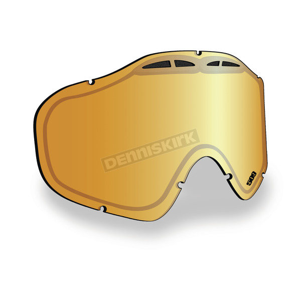509 Orange Mirror/Yellow Tint Replacement Lens for Sinister X5 Goggles - 509-X5LEN-13-OM