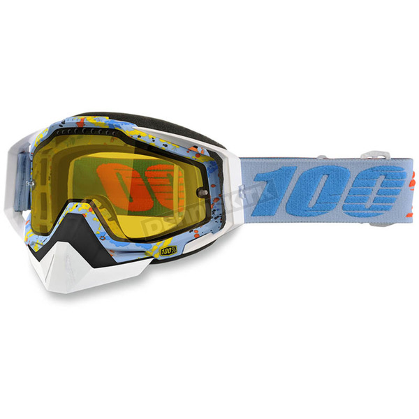 100% Racecraft Hyperloop Snow Goggles w/Dual Yellow Lens - 50103-193-02