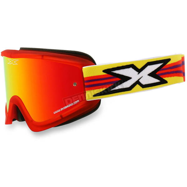 EKS Brand Red GOX Flat Out Goggles w/Red Mirror Lens - 067-10360
