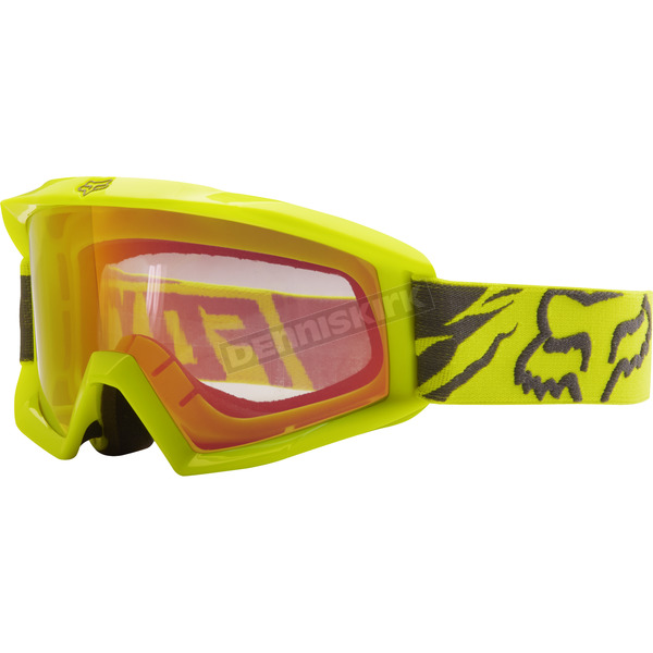 Fox Youth Yellow Main Race Goggles - 18436-005-NS