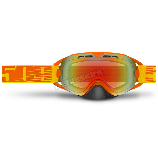 509 Neon Orange Limited Edition Revolver Goggles w/Fire Mirror/Clear Lens - 509-REVGOG-17-NO