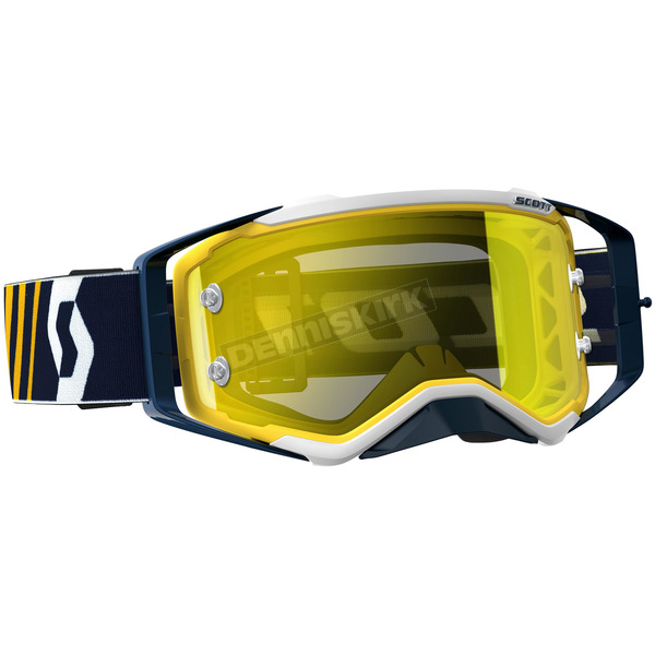 Scott Blue/White Prospect Goggles w/Yellow Chrome Lens - 246428-1006289