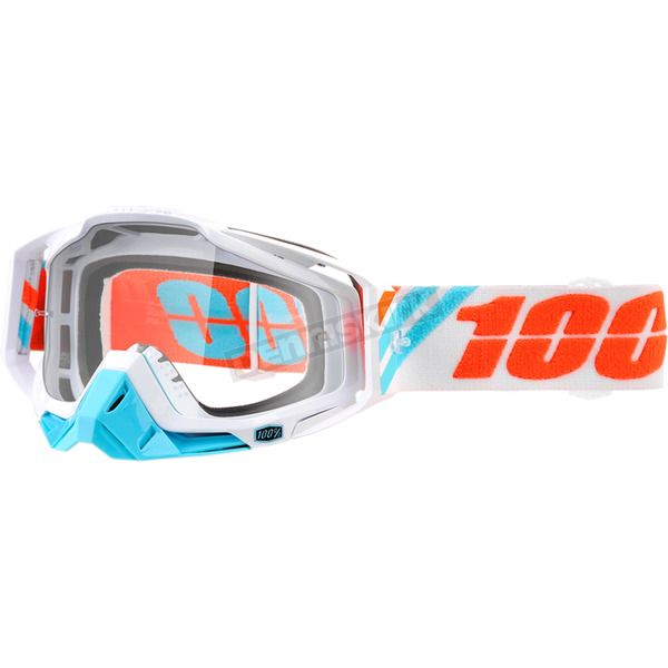 100% Racecraft Calculus Ice Goggles w/Clear Anti-Fog Lens - 50100-205-02