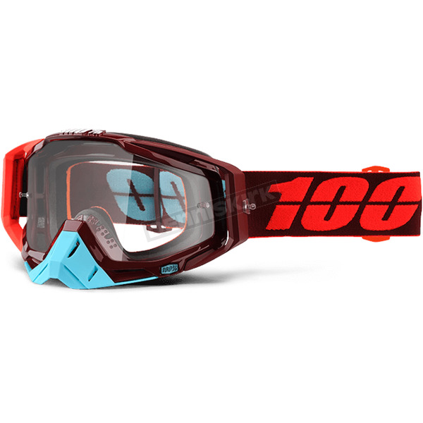 100% Racecraft Kikass Goggles w/Clear Anti-Fog Goggles - 50100-208-02