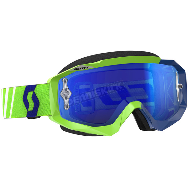 Scott Green/Blue Hustle MX Goggles w/Blue Chrome Lens - 246430-2278278
