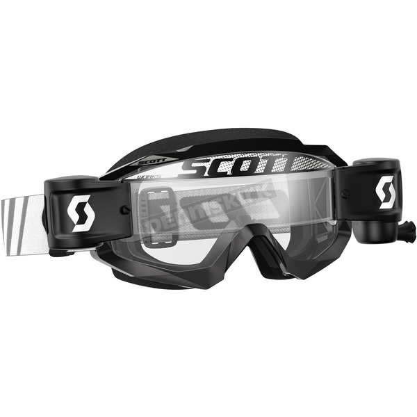 Scott Black Hustle MX WFS Goggles w/Clear Lens - 246431-0001113