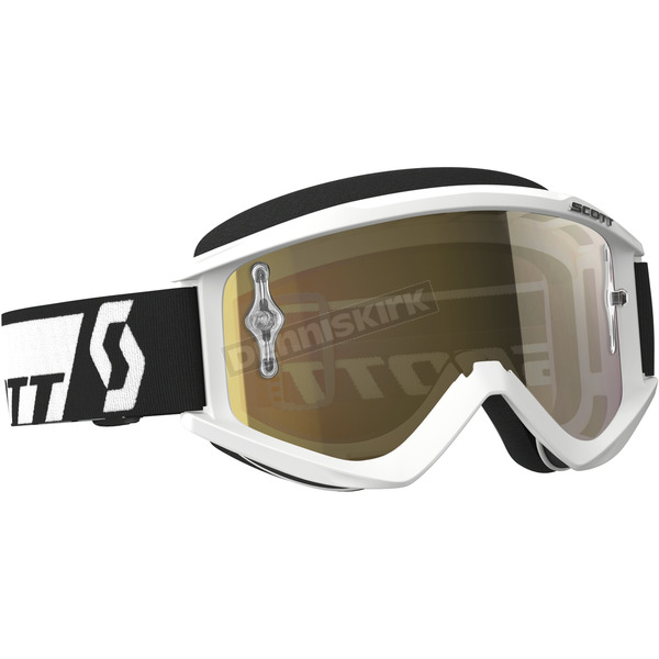 Scott White Recoil XI Goggles w/Gold Chrome Lens - 246485-0002324