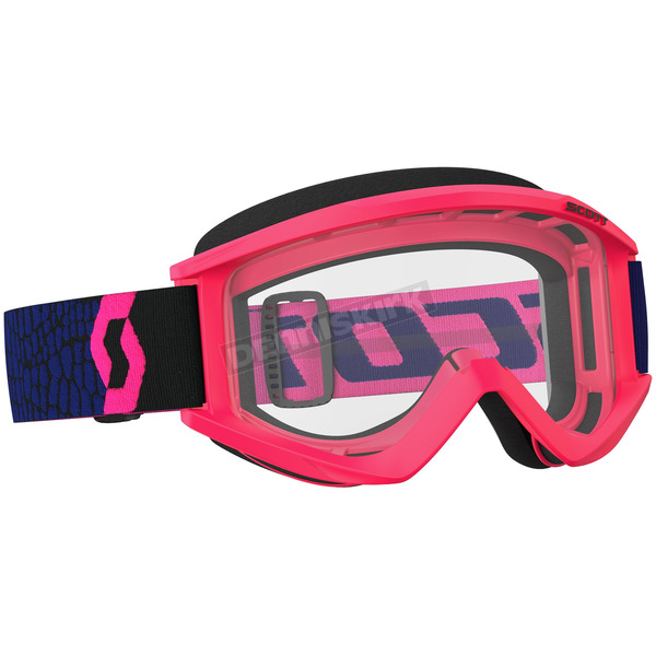 Scott Blue/Fluorescent Pink Recoil XI Goggles w/Clear Lens - 246485-5406113