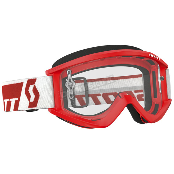Scott Red Recoil XI Goggles w/Clear Lens - 246485-0004113