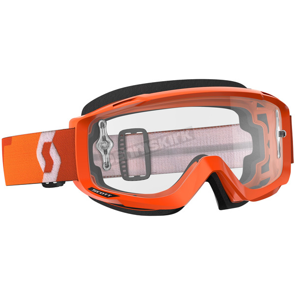 Scott Orange Split OTG Goggles w/Clear Lens - 246433-0036113