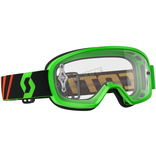 Scott Youth Fluorescent Green Buzz Goggles w/Clear Lens - 246435-5407113