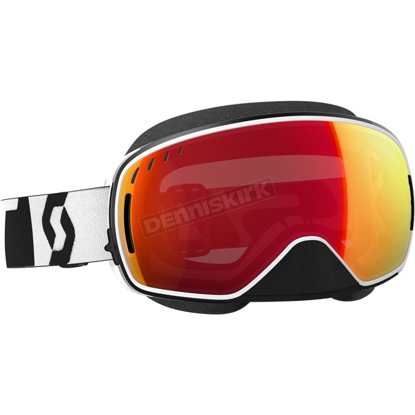 Scott Black/White LCG Snowcross Goggles w/Red Chrome Lens - 246437-1007312