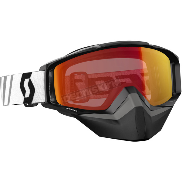Scott Black Tyrant Snowcross Goggles w/Red Chrome Lens - 246438-0001310