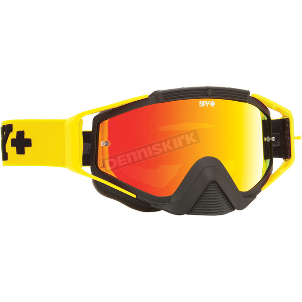 Spy Optic Jersey Yellow Omen Goggle W/Smoke/Red Spectra Lens - 323129472856