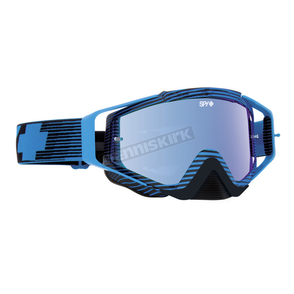 Spy Optic Blue Flash Omen goggle W/Smoke/Light Blue Spectra Lens - 323129717974