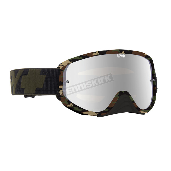 Spy Optic Fatigue Woot Race Goggle w/Smoke/Silver Mirror Lens - 323346652855