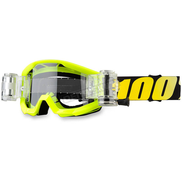 100% Neon Yellow/Black Strata Junior Goggles - 50520-004-02