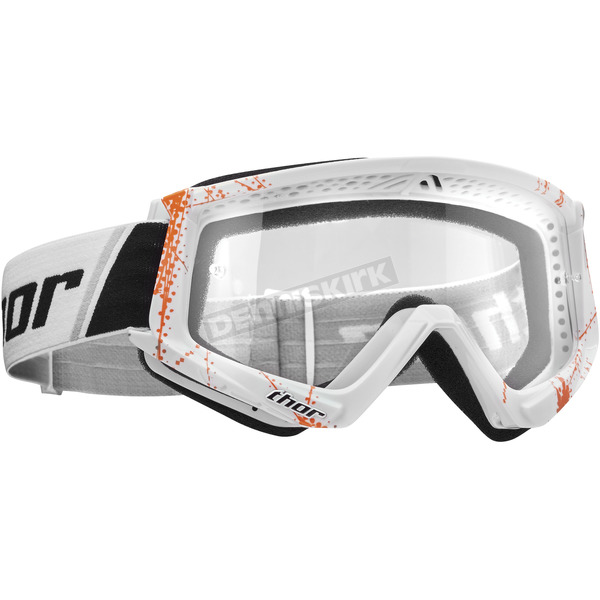 Thor Orange/White Combat Web Goggles - 2601-2364