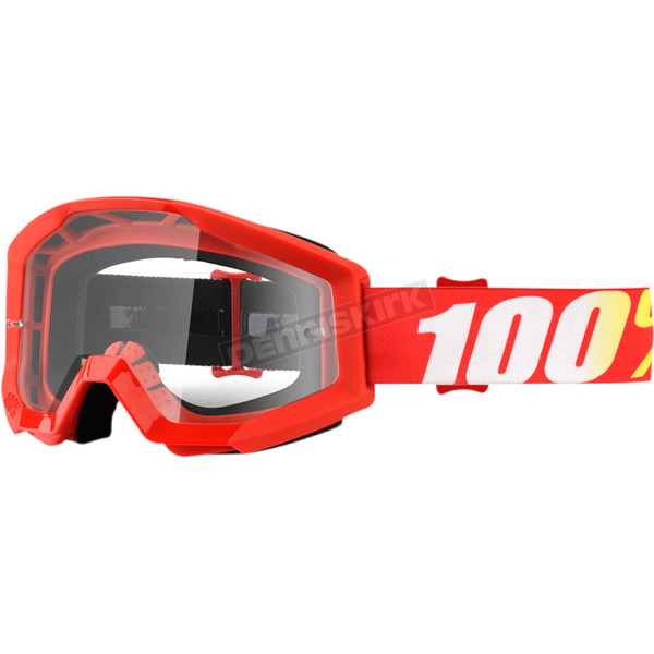 100% Strata Funrace MX Goggles w/Clear Lens  - 50400-232-02