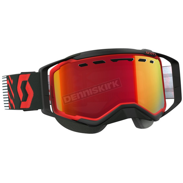 Red/Black Prospect Snowcross Goggles w/Amp Red Chrome Lens - 262581-1018312