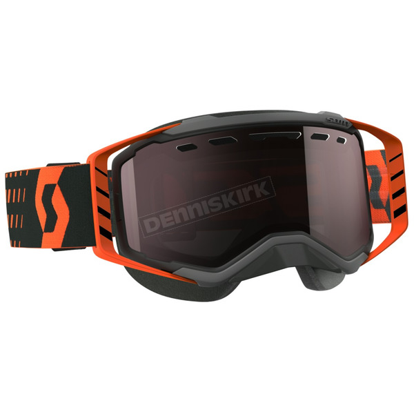Scott Black/Orange Prospect Snowcross Goggles w/Amp Silver Chrome Lens - 262581-1009313