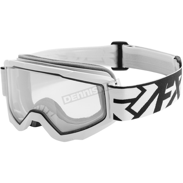 FXR Racing White/Black Squadron Goggles - 183106-0110-00