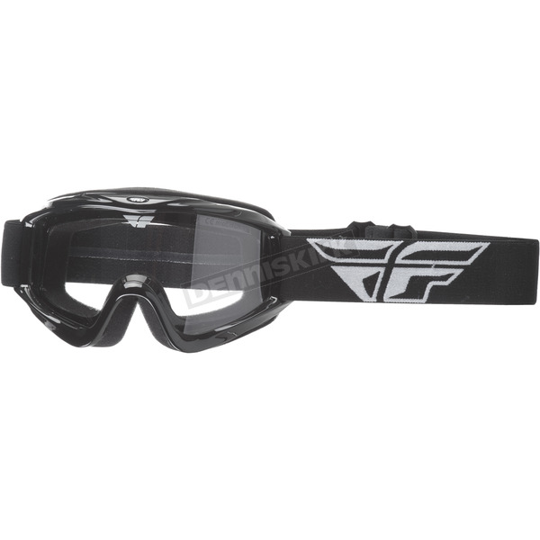 Fly Racing Youth Black Focus Goggles - 37-4020