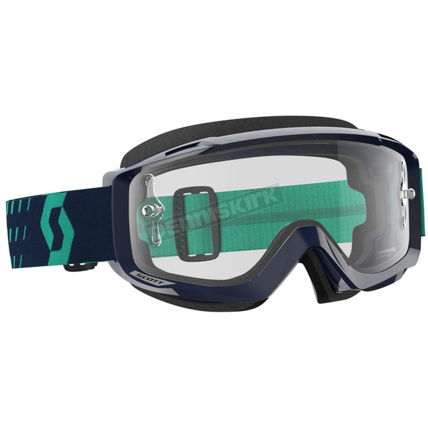 Scott Blue/Teal Split OTG Goggles w/Clear Lens - 262599-5572113