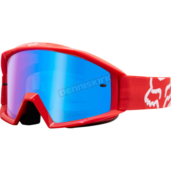 Fox Red Main Race Goggles - 19968-003-NS